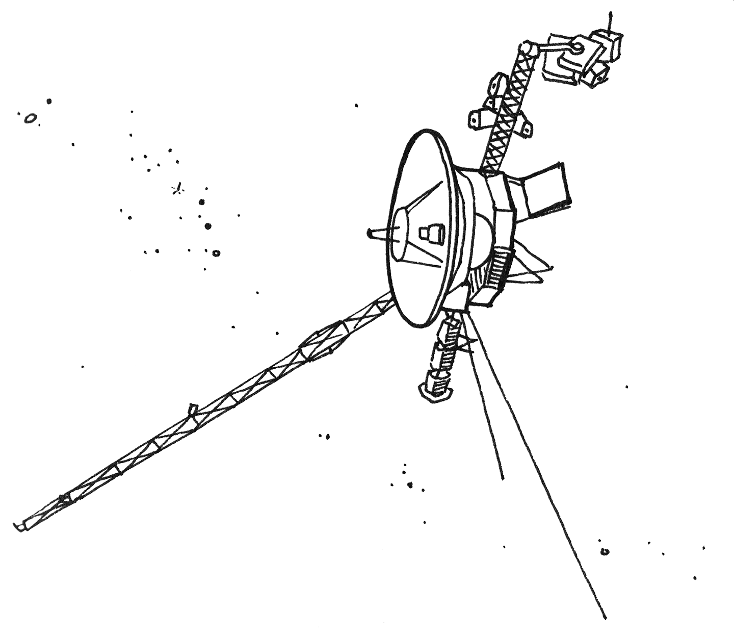 Voyager 1 Drawing (page 2) - Pics about space