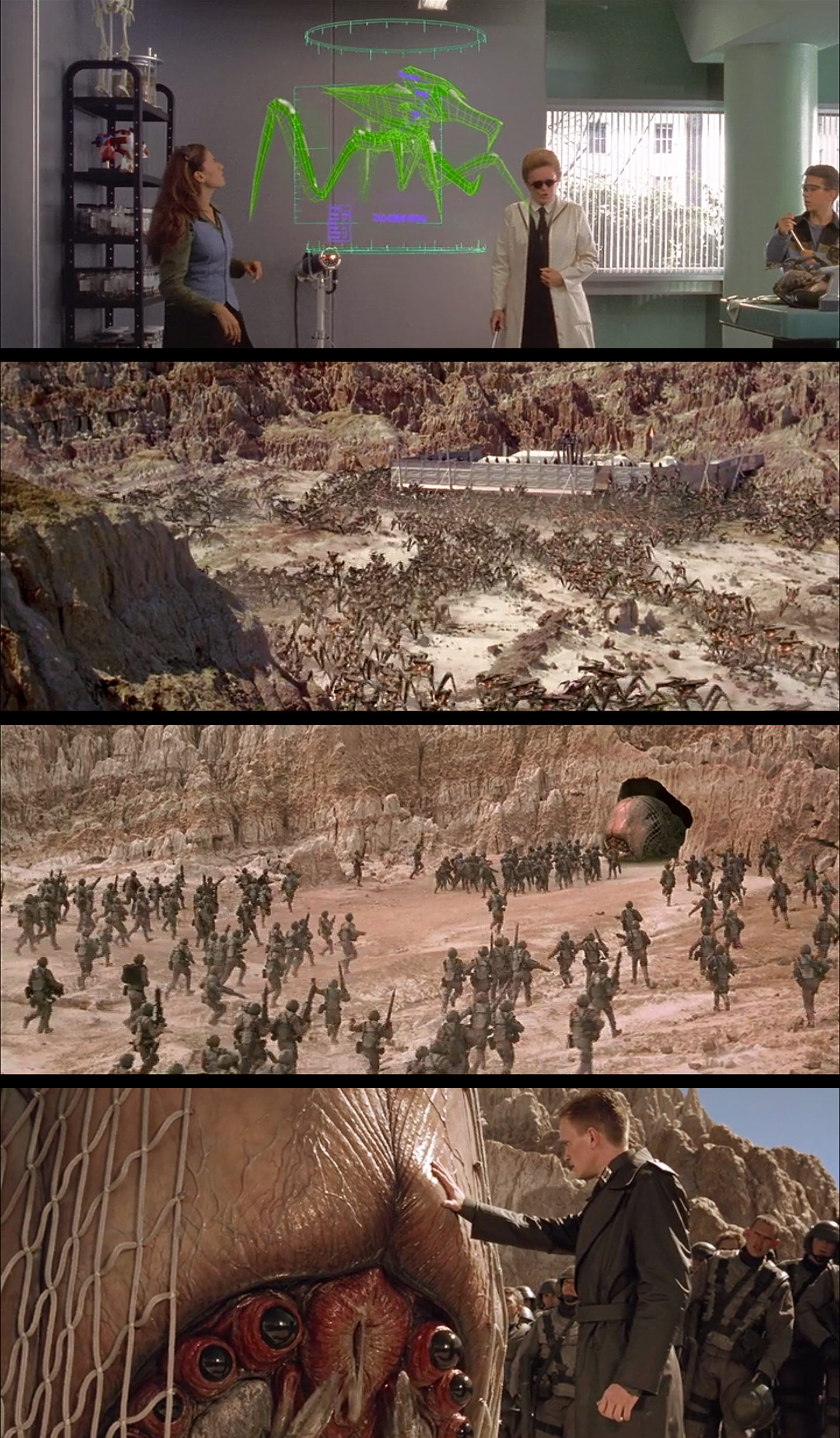 Humans and Bugs in Starship Troopers